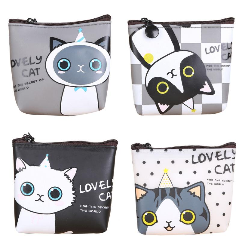 XINIU Pocket Wallet Girls Cute Cat Coin Women Purse Card Holder Ladies Pouch Key Holder Anime Wallet Monederos Mujer#99
