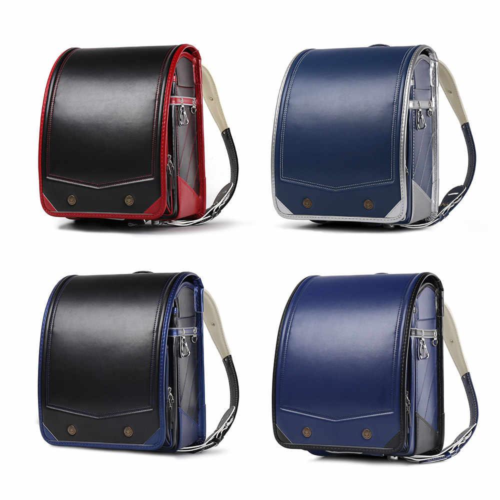 Coulomb Randoseru Детский рюкзак для детей школьные сумки PU Pachwork японские ортопедические рюкзаки Mochila Infantil детские сумки школьный рюкзак для мальчика ортопедический школьный рюкзак