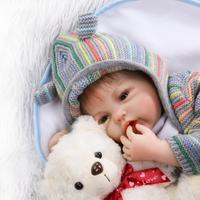 20 Inch Reborn Dolls 50cm Soft Silicone Reborn Dolls Cloth Body Newborn Babies Toy Boneca Baby Doll For Kid Birthday Gift