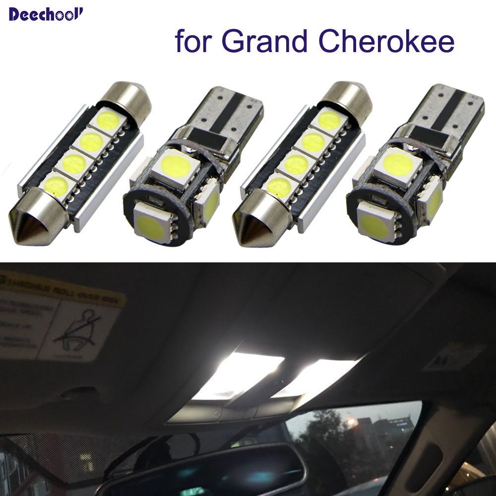 15pcs Interior Lights For Jeep Grand Cherokee 98 17 White