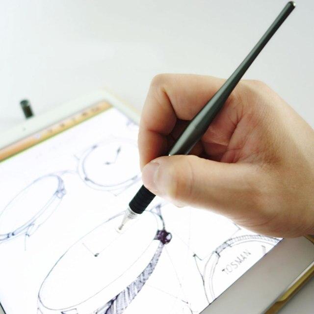 Etmakit 2 Quente em 1 Capacitive Stylus Pen NOVO Desenho de Metal Pen Touch Screen Stylus Pen Para Tablet Telefone Inteligente PC para o iphone iPad