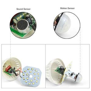 Image 3 - חכם קול חיישן/PIR Motion חיישן LED מנורת 220v E27 3W 5W 7W 9W 12W LED נורות לילה חיישן מתג אוטומטי בקרת בית תאורה