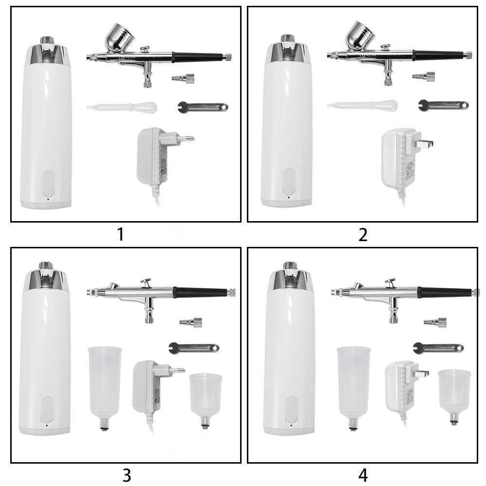 Portátil aerógrafo conjunto de la bomba de aerosol de la pluma del compresor de aire Kit de pintura de arte del tatuaje de pastel de modelo hermoso cepillo de aire kits
