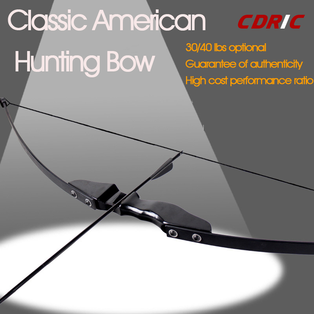 30/40IBS Higth Quality Black Recurve Bow  With Wooden Archery Bow Shooting Game Outdoor Sports