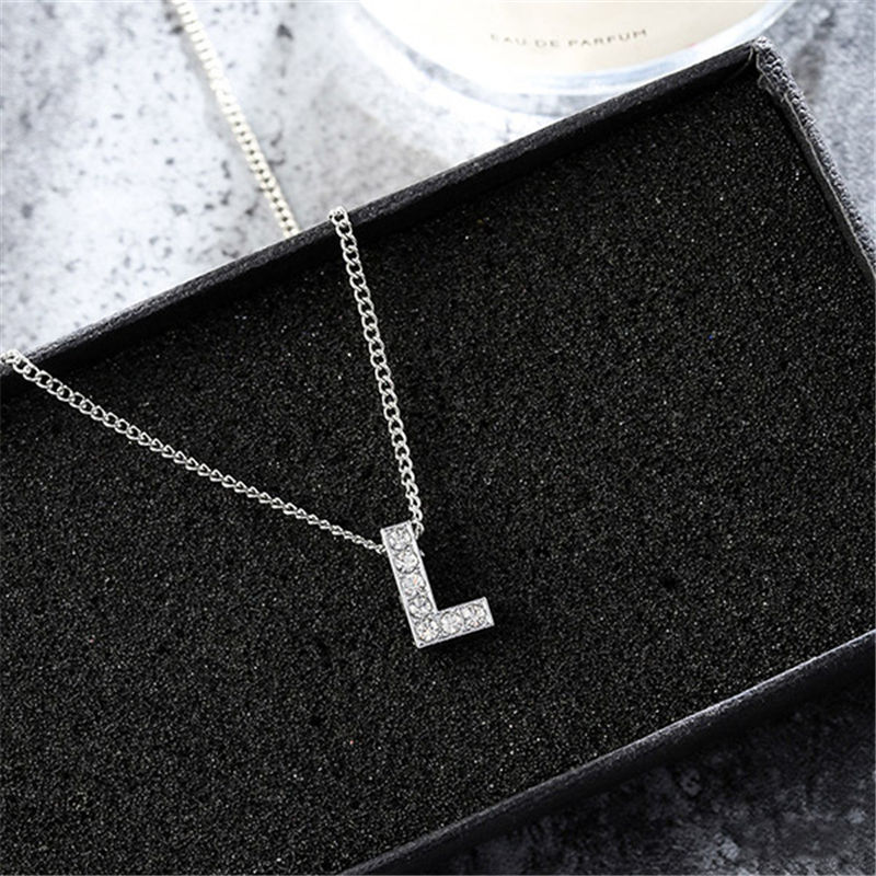 2018 new  fashion Simple silver Women Metal Alloy Letter Name Initial Link Chain Charm Pendant Necklace Drop Shipping bracelets