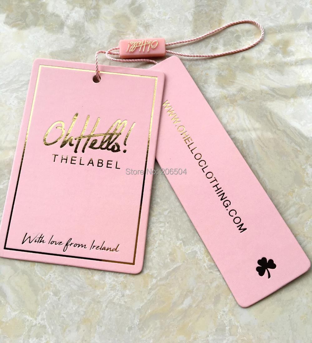Customized Paper Hang Tag/clothing Swing Tag Labels/garment Bag Printed Tags Brand Care Labels Logo GQ08013