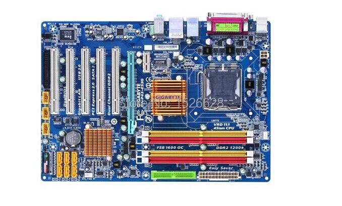 Оригинальный все твердотельный настольная материнская плата для Gigabyte ga-p43-es3g DDR2 LGA775 P43 Gigabit Ethernet Бесплатная доставка