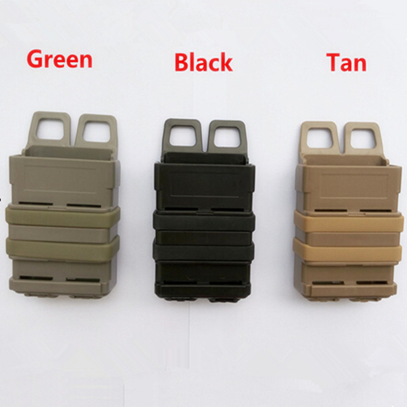 3 PCS  MOLLE  magazine The triple gear bag Airsoft fast MAG MOLLE pouch clip / 5.56 mm  fast mag M4 magazine pouch holster