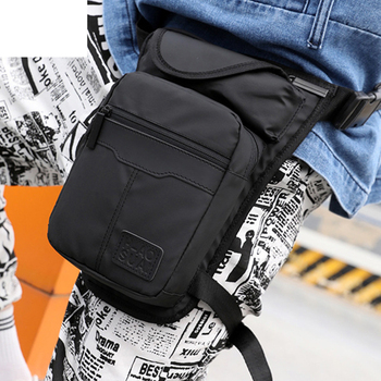 High Quality Nylon Men Drop Leg Bag Fanny Pack Motorcycle Riding Casual Shoulder Cross Body Thigh Male Hip Belt Waist Bags