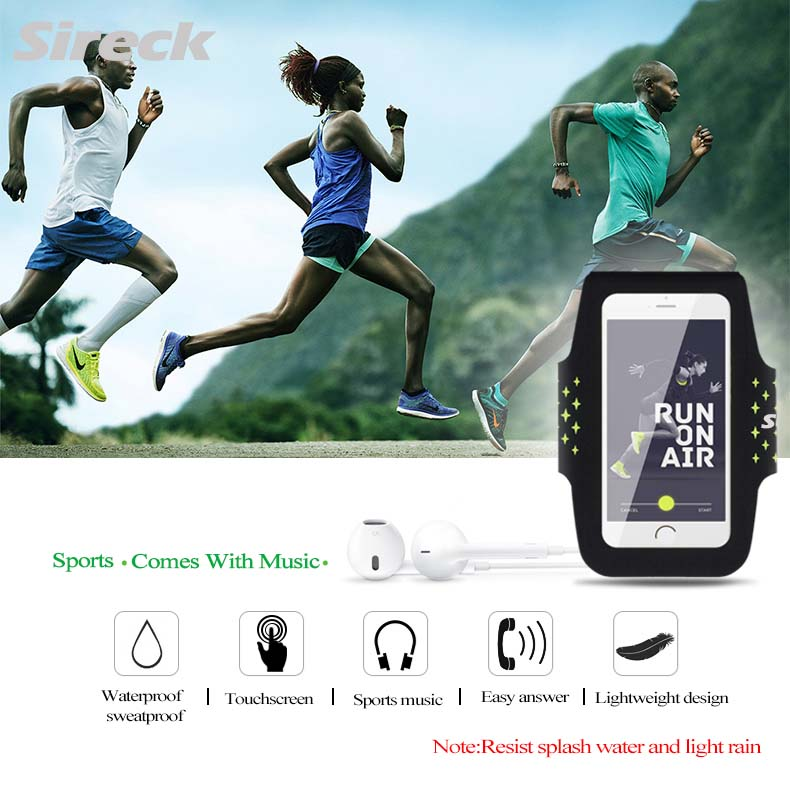 """Sireck Running Bags Touchscreen 5.0"""" 5.8"""" Armband Phone Waterproof Arms Bag Accessories Gym Sport Fitness Jogging Run Bag 45 cm 10"""