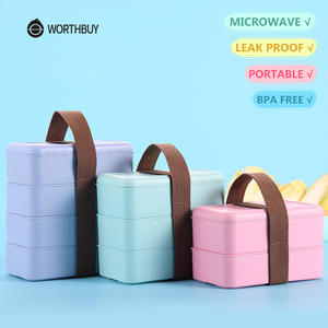 WORTHBUY Lunch Box For Kids Container Bento Box School