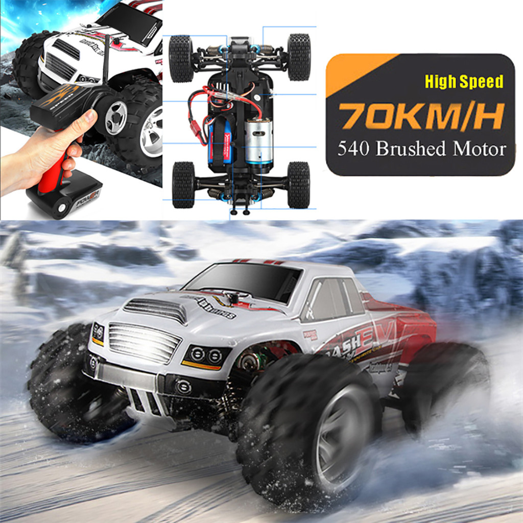 WLtoys A979B RC Car 2.4G 70km/h High Speed Radio Controled Machine Scale 1/18 Rally Shockproof Rubber Wheels Buggy Gifts 6.10
