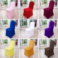 6 Pc Spandex Seat Case Strech Chair Cover Elastic for Wedding Party Hotel Banquet Event Decoration Decor