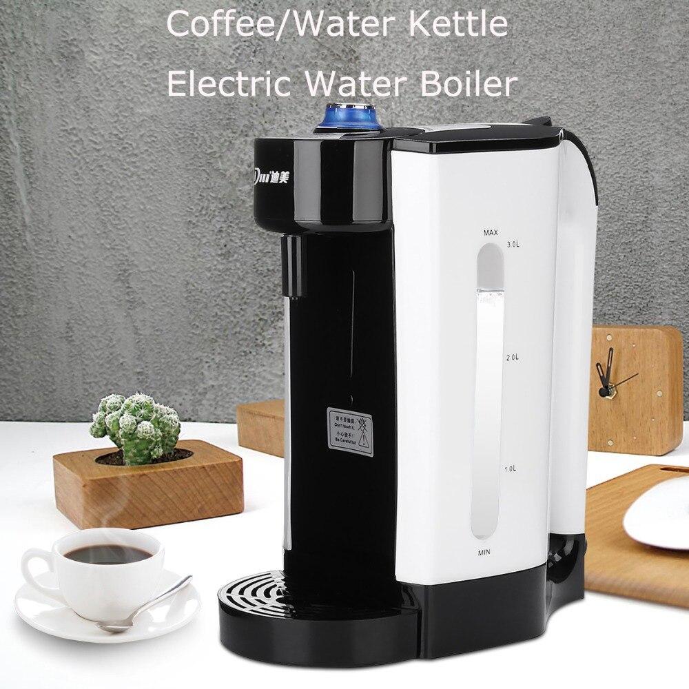 3L Электрический водяной кипятильный мгновенный нагрев Электрический чайник вода Регулируемый Температура Кофе Чай Maker Office 2000 Вт