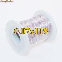 ChengHaoRan 0,07x119 hebras antena Litz Alambre De acuerdo a la venta de metros de sobre de algodón y poliéster