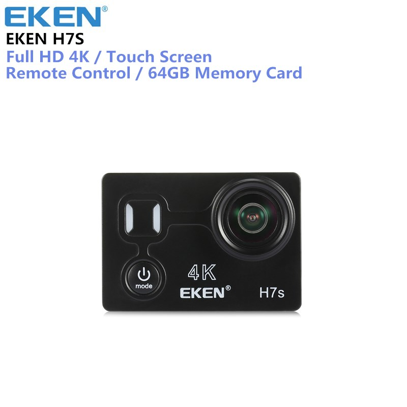 EKEN H7s 4K Action Camera Full HD WiFi Waterproof Sports DV Camcorder with 12MP Photo Video and 170 Wide Angle Lens