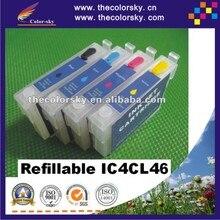 (Rce-ic4cl46) recargables cartucho de tinta del repuesio para epson ic4cl46 icbk46 icc46 icm46 icy46 px-a740 px-fa700 px-v780 envío gratis