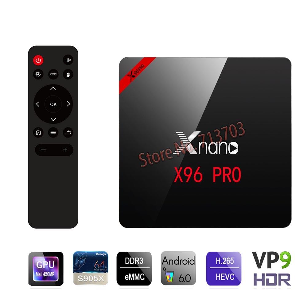 2017 Original 1xnano X96 PRO 2 GB 16 GB Inteligente Android 6.0 TV Box S905X 4 K