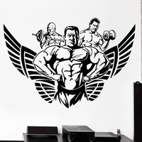 New arrival free shipping Fitness Sticker Body building Decal GYM Posters Vinyl Wall Decals home Decor Mural Fitness Sticker