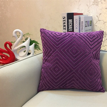 Purple Diamond corduroy Throw Pillow 5
