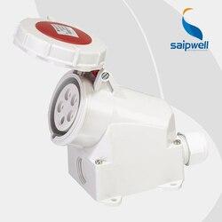 Sprzedaż hurtowa Saipwell 16A 400 V 3 P (2 P + E) złącze gniazdo przemysłowe EN/IEC 60309 2 określone gniazdo zasilania wodoodporna SP1200 w Złącza od Lampy i oświetlenie na