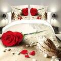 Hermosa flor de la impresión 3d juegos de cama queen size ropa de cama edredón conjunto