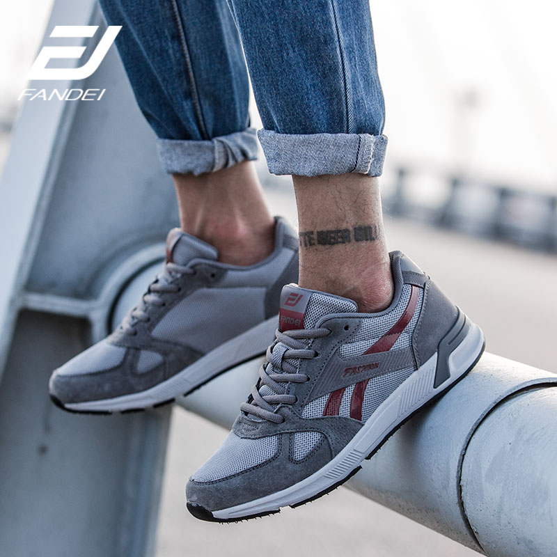 Retro Men Running Shoes Men's Sneakers Walking Shoes For Outdoor Sport Man Shoes Leather Breathable Mesh Training Sports Shoes cross training shoes walking arder shoes for women leather sport shoes soled sneakers allmatch students flat shoes fitness