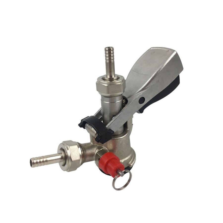 Соединитель для Keg d типа из нержавеющей стали с предохранительным клапаном для разлива пива, домашний диспенсер для пивоварения