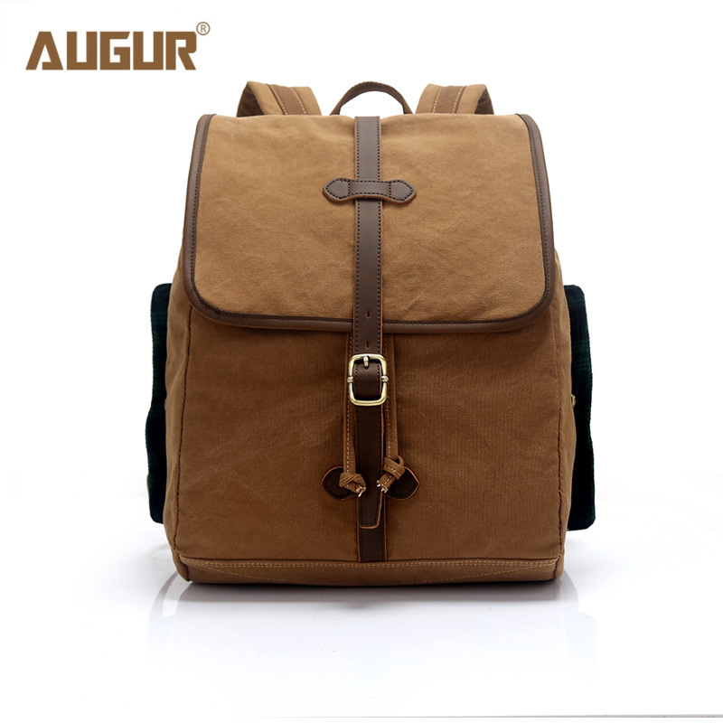 AUGUR New Preppy Style Women Canvas Backpack High Quality School Backpack Bags For Girls Teenagers Designer