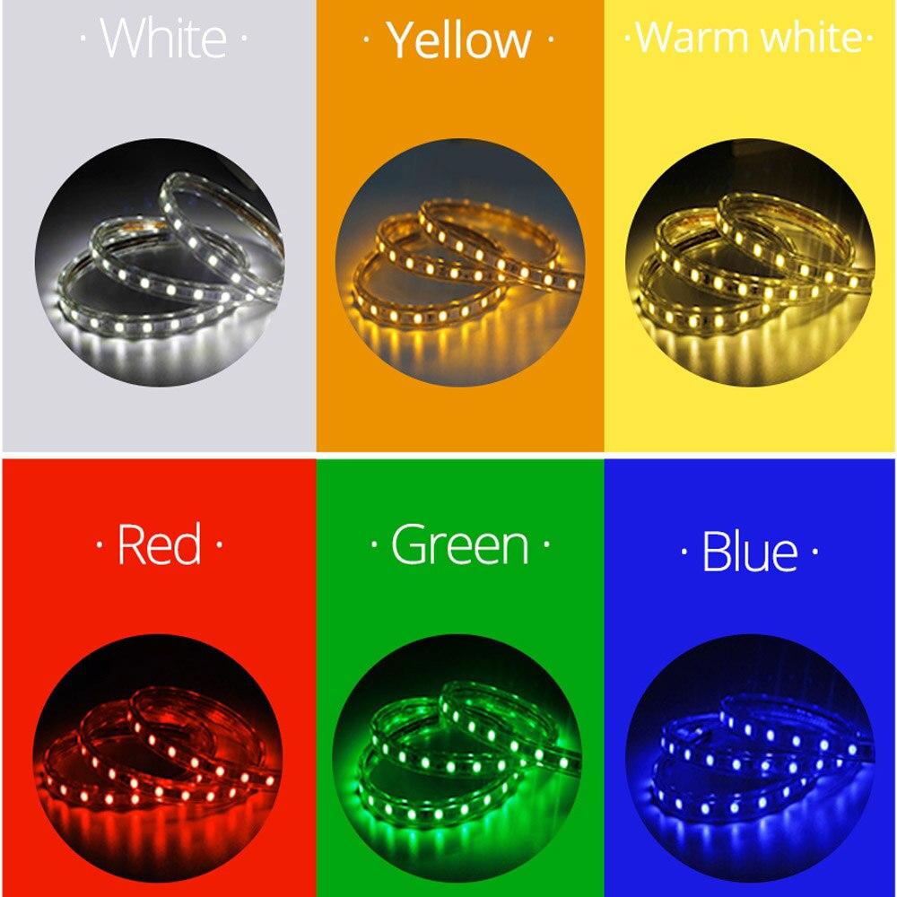50 м рулон светодиодные полосы света 60 светодиодов/м водонепроницаемый светодиодный, неоновый свет веревки трубки можно резать гибкие полосы для внутреннее и наружное освещение Декор - 6