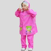 ff3cb7224 Animal de dibujos animados oso impermeable niños impermeable conjunto para  niños lluvia abrigo impermeable/traje