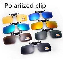 76255288d3 Medio conductor gafas de visión de noche los hombres y las mujeres Clip en  gafas de sol de marca de diseñador gafas de sol polar.