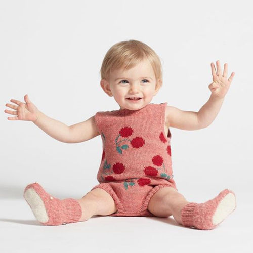 be5ca89a8 2018 New Rainbow Cherry Baby knit Rompers Princess Newborn Baby Clothes  Kids Girls Boys Jumpsuit Infant Knitted Overalls Autumn