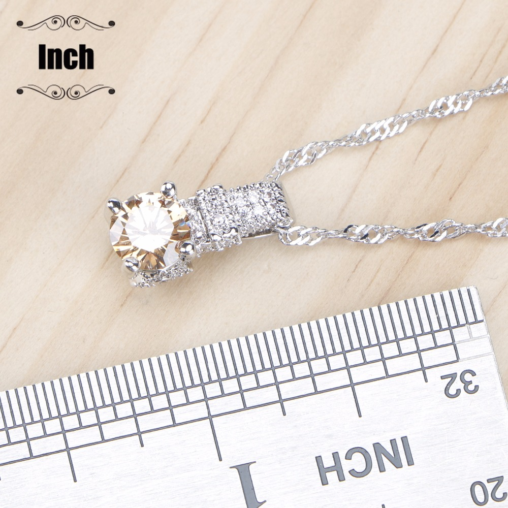 Genuine 925 Sterling Silver Ring Necklace Pendant Jewelry Set