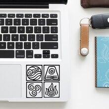 """""""Повелитель стихий"""" Аватар наклейка для ноутбука Наклейка сенсорной панели для Macbook Pro/Air retina, возрастом 11, 12, 13, 15 дюймов Mac тачпад для ноутбука кожи"""