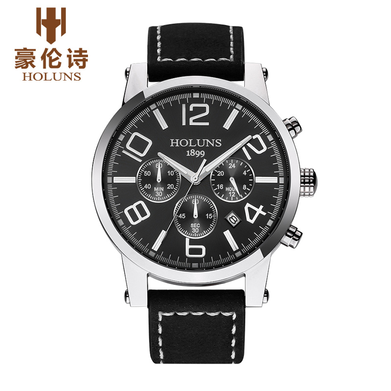 HOLUNS TS103 Watch Geneva Brand Genuine multifunctional luminous watches font b men s b font watches