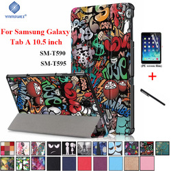 Magnet Smart Case For Samsung Tab A 10.5 2018 T590 T595 PU Leather Stand Cover For Samsung Galaxy Tab A2 10.5 2018 SM-T590/T595