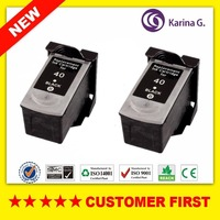 2PCS For PG 40 PG40 PG 40 Black Ink Cartridge For Canon PIXMA IP2500 IP2600 MX300