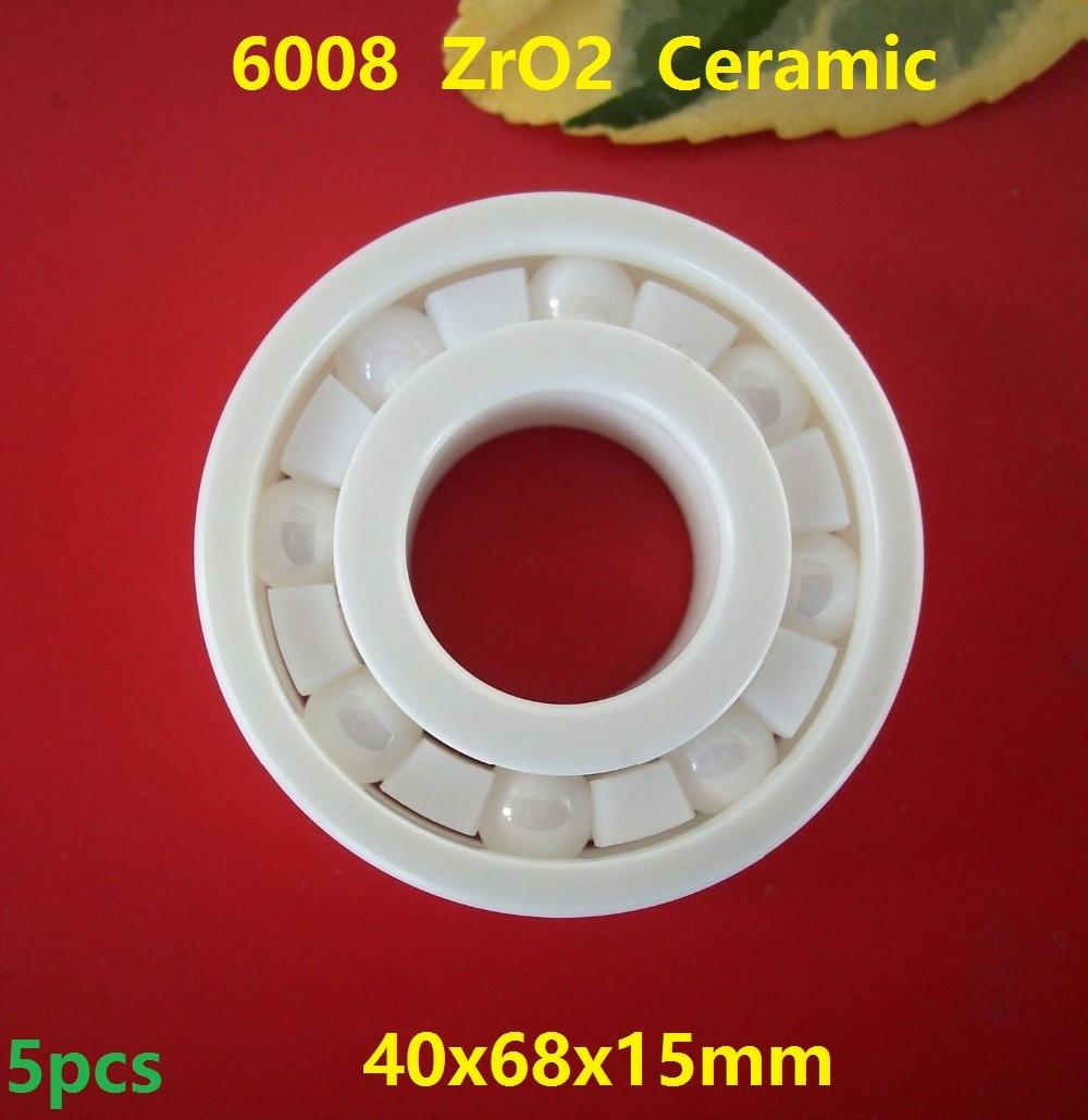 5pcs/lot 6008 ZrO2 full Ceramic bearing 40x68x15mm Zirconia Ceramic deep groove ball bearings Ceramic bearing professional 608 full ceramic bearing zro2 ball bearing 8x22x7mm zirconia oxide new with corrosion resistance