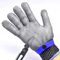 FGHGF New Work Gloves Breathable Comfortable Safety Cut Proof Stab Resistant Stainless Steel Metal Mesh Gloves Anti-cut Gloves