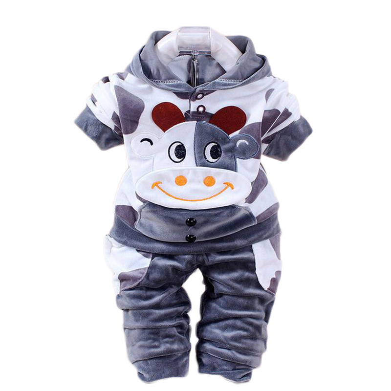 New 2017 Baby Clothing Set Cartoon Kids Apparel Boys Girls Children Hoodies And Pant Children's Clothing Sets For Autumn new 2017 autumn baby kids set velvet hello kitty cartoon t shirt hoodies pant twinset long sleeve velour children clothing sets