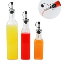 cooking tools Lecythus 500ML Transparent glass vinegar bottle kitchen supplies oiler spices bottle nozzle bottle 1pc