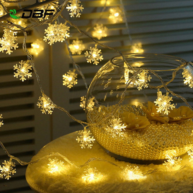 [DBF]9.5M 100LED Snowflake Fairy Christmas Light 220V EU Plug LED String Curtain Light for Holiday Wedding Party Outdoor Indoor