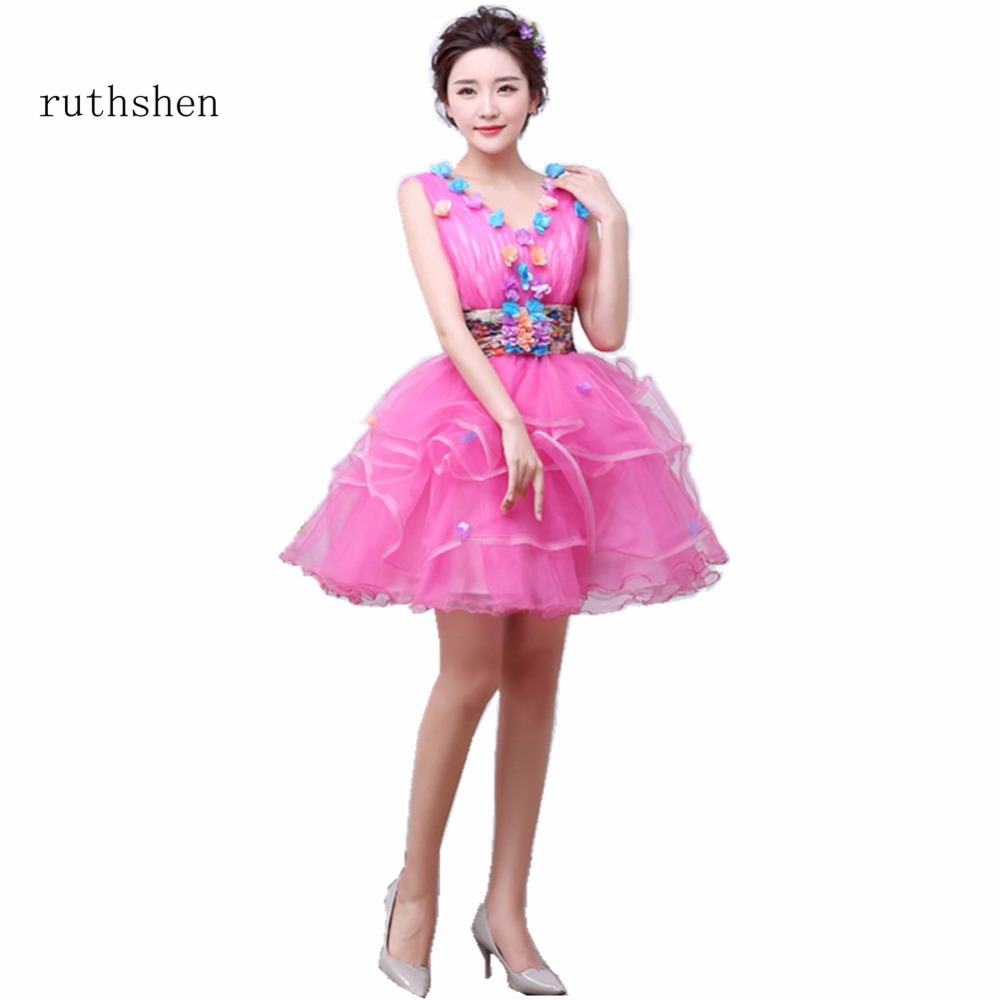 ruthshen Ball Gown Sleeveless Sexy V Neck Short Mini Prom Dress With ...
