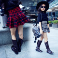 5 6 7 8 9 10 11 12 13 14 15 Y Girls Skirts For Kids Teenagers Cotton Children Clothing Plaid Cute Girls Clothes Casual Baby Girl