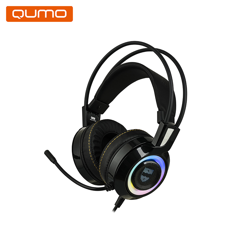Gaming Headset Qumo JollyRoger GHS0010 hl good quality original wireless headset bluetooth headphone headband headset with fm tf led indicators for iphone cell phone