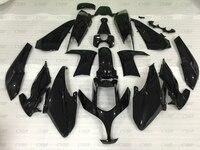 T MAX500 11 10 Body Kits for YAMAHA TMAX500 2008 2012 glossy Black Plastic Fairings T MAX500 2011 Fairings