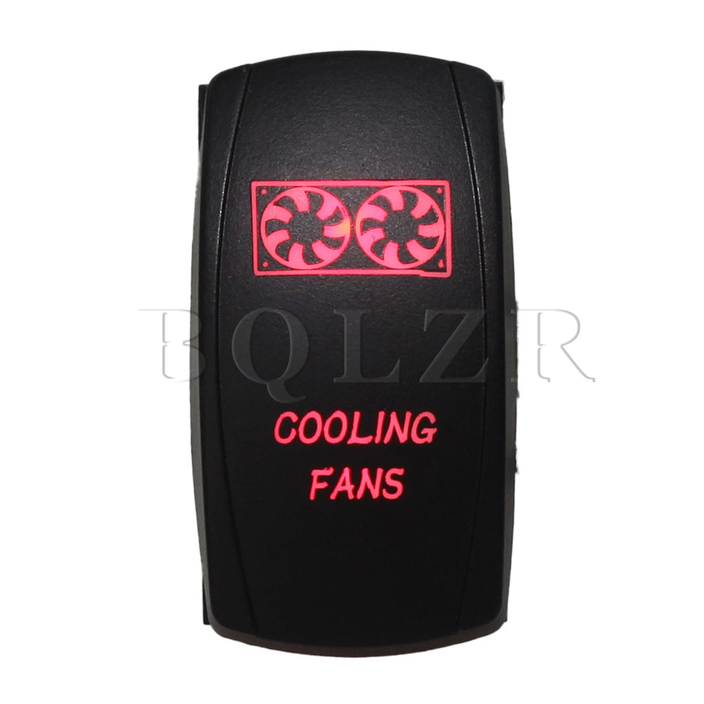 BQLZR DC12-24V Car 5pin Waterproof IP68 Cooling Fans Red ON-OFF Rocker Switch bqlzr dc12 24v black push button switch with connector wire s ot on off fog led light for toyota old style