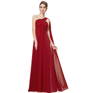 Image 4 - Elegant Burgundy Long Bridesmaid Dresses A Line V Neck Women Guest Dress for Wedding Party Ever Pretty Plus Size Formal Gowns