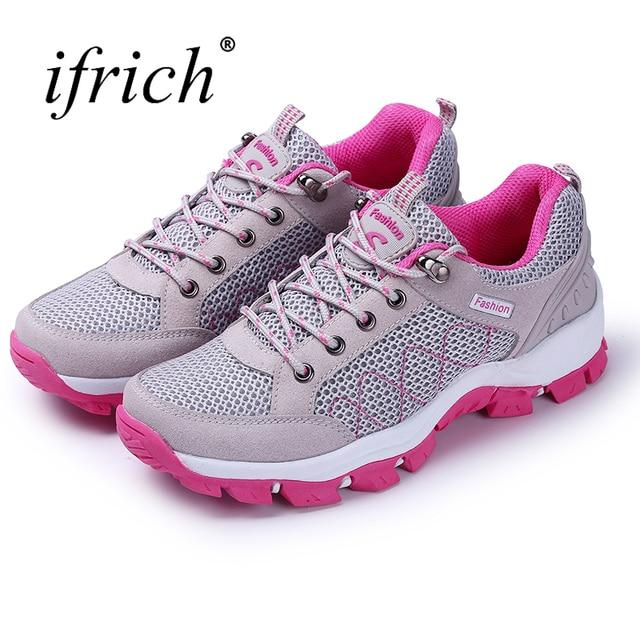 Mujeres Run zapatos 2019 zapatos de las mujeres zapatos deportivos de color  gris rojo zapatillas cd653999603ac